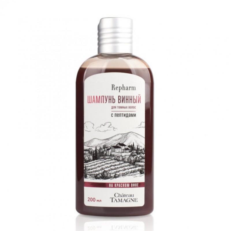 REPHARM Шампунь винный Chateau Tamagne с пептидами для темных волос