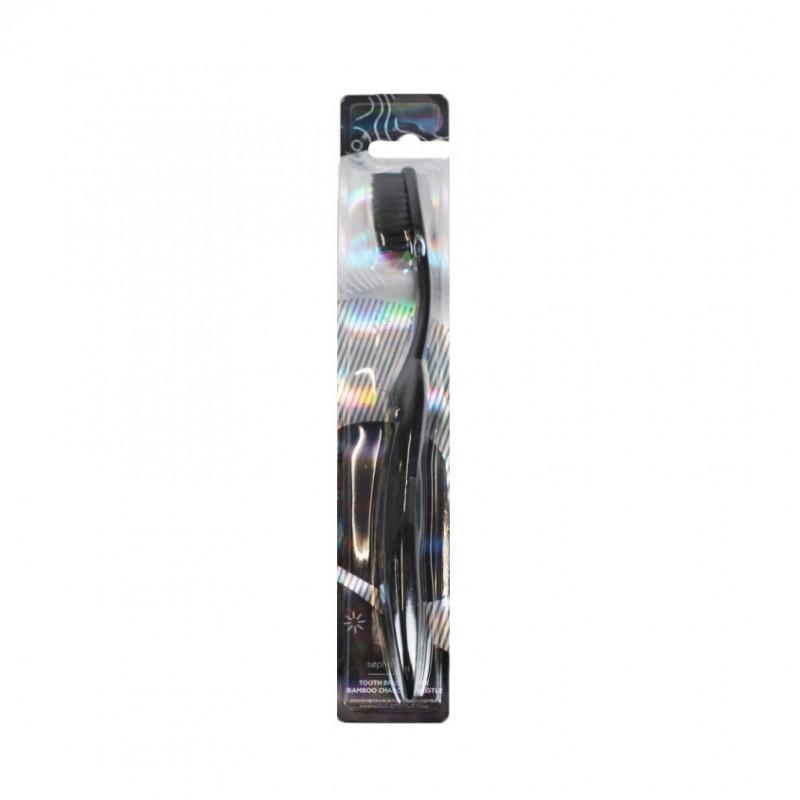 SOPHISTICATED Зубная щетка с бамбуковой угольной щетинкой Black