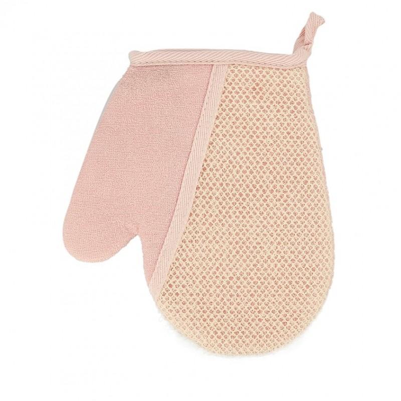 DECO. Мочалка-рукавица для тела DECO. розовая (нейлон)