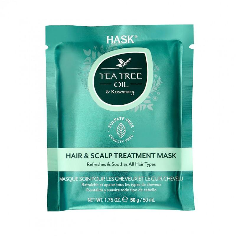 HASK Маска для волос укрепляющая с маслом чайного дерева и экстрактом розмарина