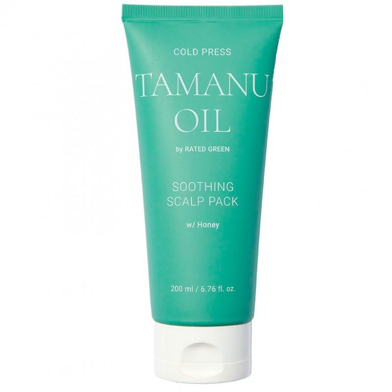 RATED GREEN Успокаивающая маска для кожи головы с маслом таману