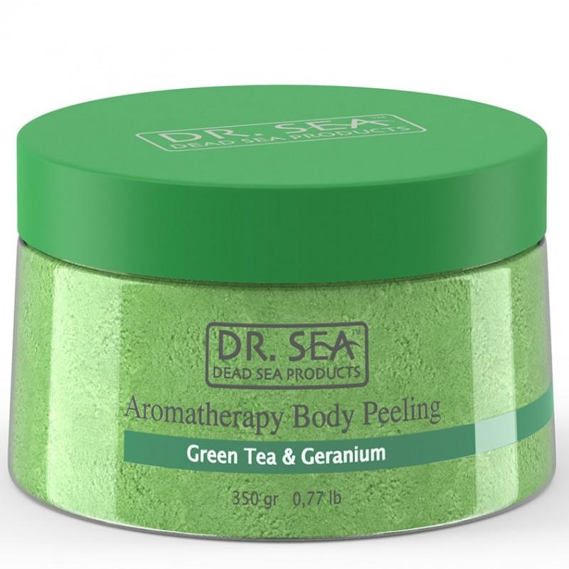 DR. SEA Ароматический пилинг для тела с экстрактом зеленого чая и маслом герани