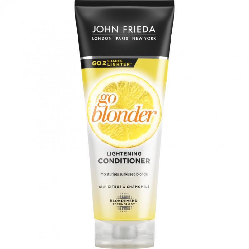 JOHN FRIEDA Кондиционер осветляющий для натуральных, мелированных и окрашенных светлых волос Sheer Blonde Go Blonder