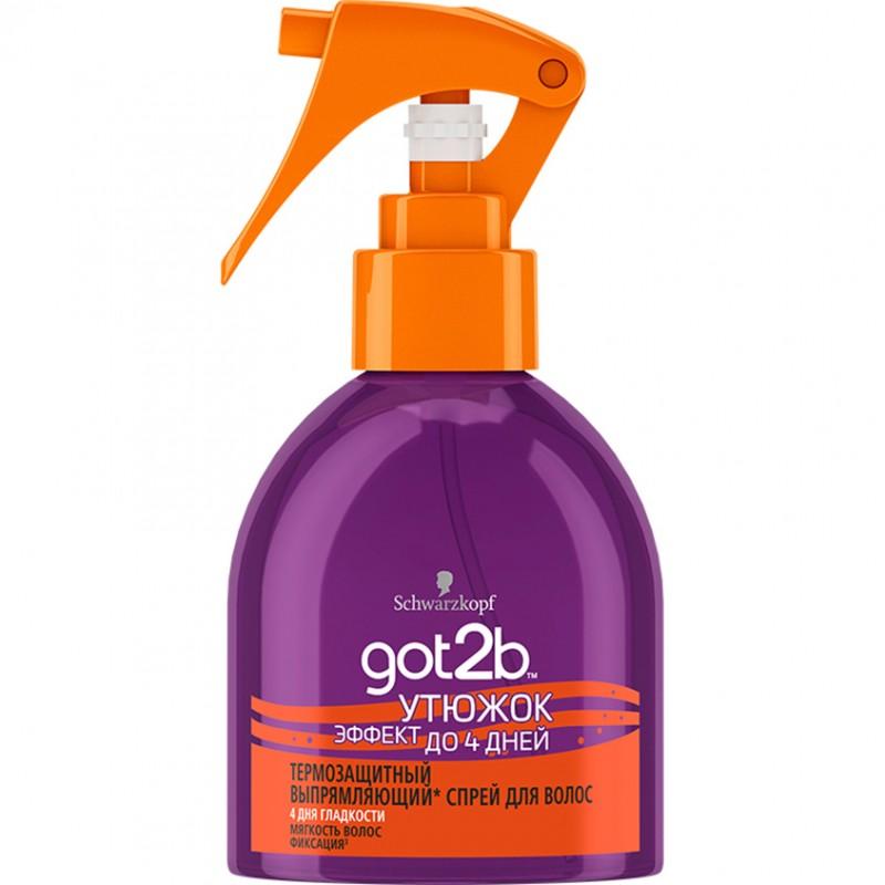 GOT2B Выпрямляющий спрей для волос Утюжок