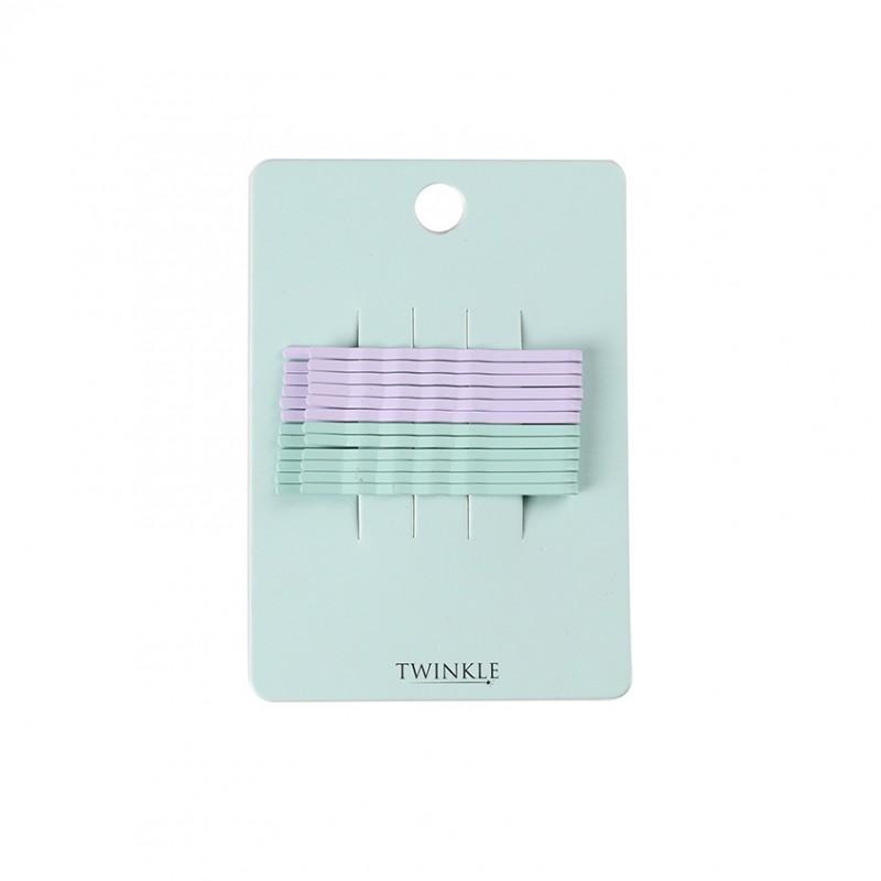 TWINKLE Заколки для волос 12 шт. Purple + Mint