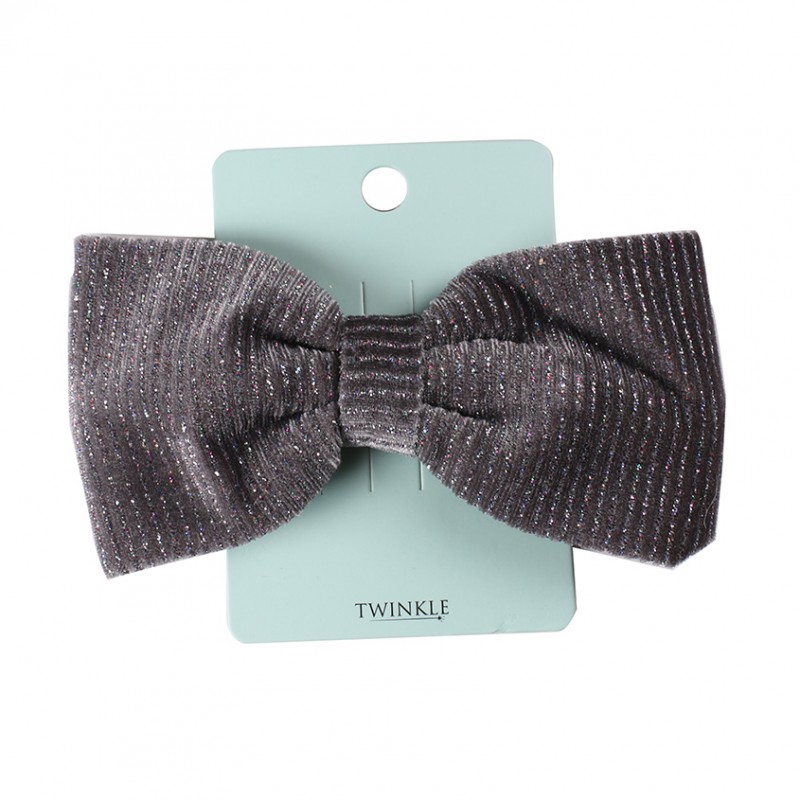 TWINKLE Заколка для волос для детей BACK TO SCHOOL бант Gray Silver