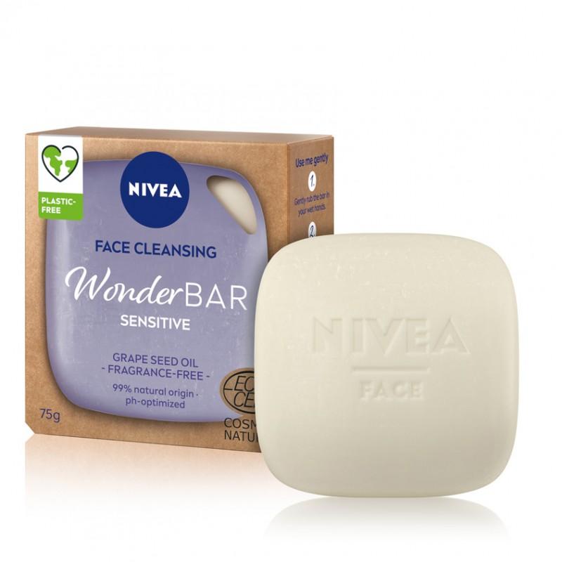 NIVEA Твердое средство для умывания NIVEA WonderBAR Sensitive базовое ежедневное очищение кожи