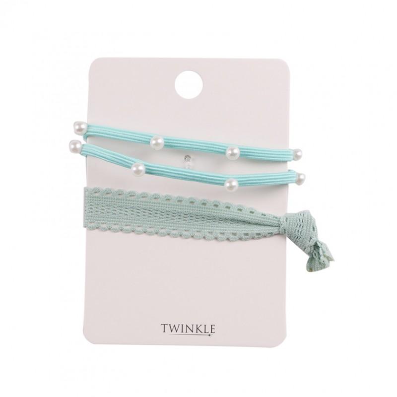 TWINKLE Резинки для волос 2 шт. Mint Blue