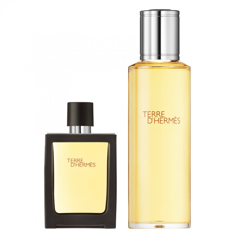 HERMÈS Terre d'Hermès Perfume Travel Spray 30 ml and Refill 125 ml