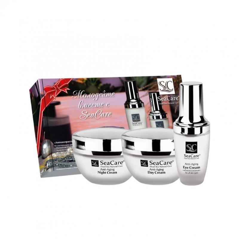 SEACARE Подарочный антивозрастной набор №2, Дневной и Ночной крема, Крем для глаз, с Матриксилом