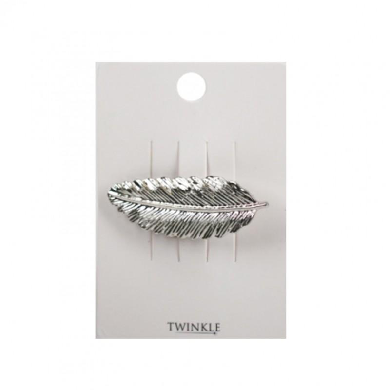 TWINKLE Заколка для волос Silver Leaf