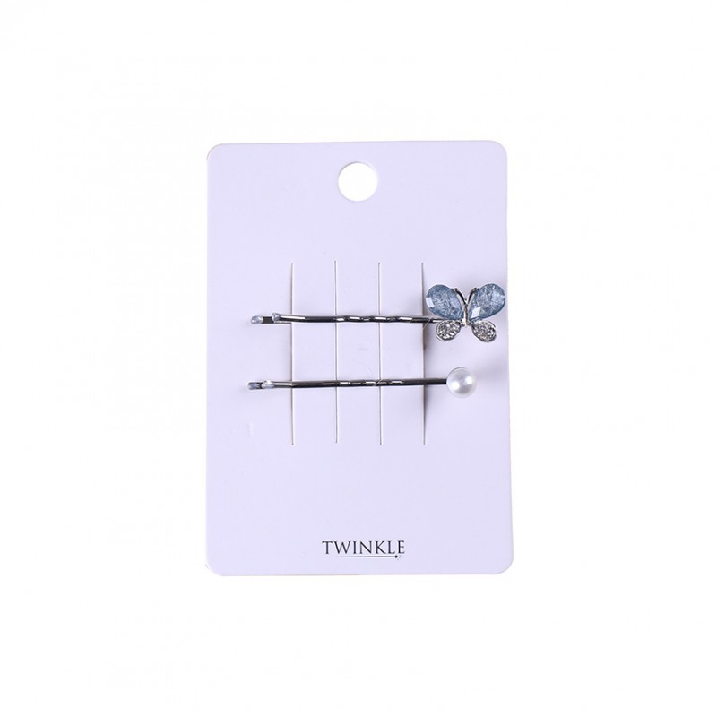 TWINKLE Заколки для волос 2 шт. Glass Butterfly