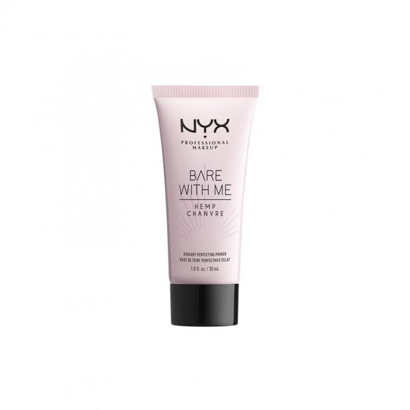 NYX Professional Makeup Праймер-уход для лица c эффектом свечения кожи с маслом семян конопли BARE WITH ME RADIANT PERFECTING PRIMER