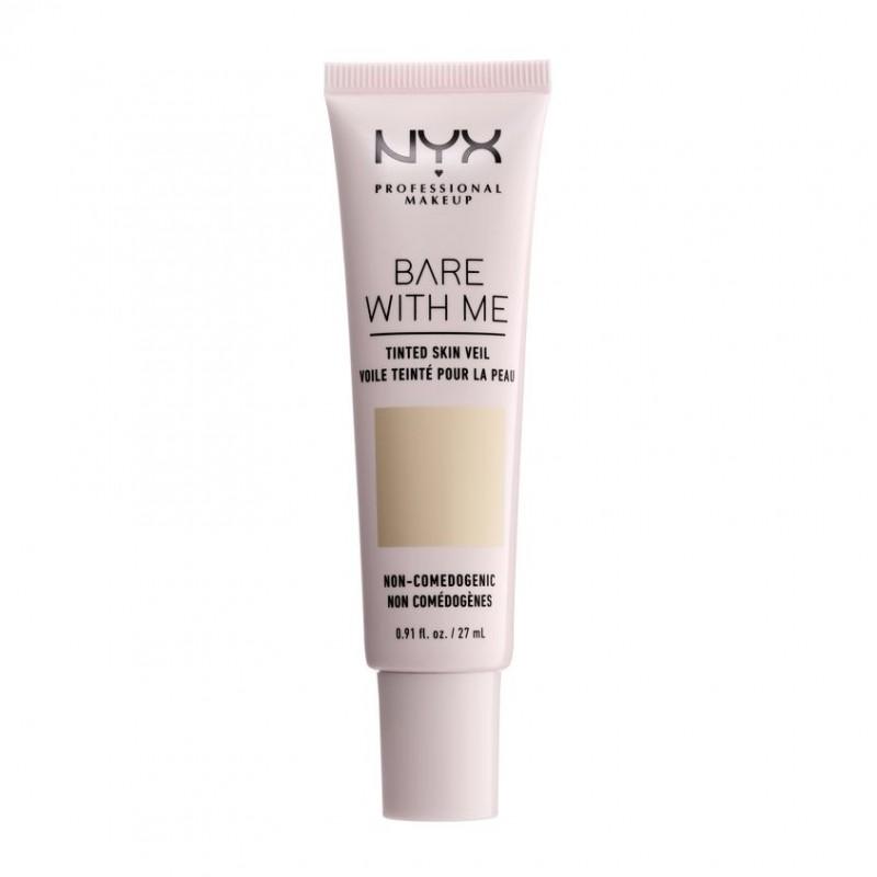 NYX Professional Makeup Тональная основа-вуаль для лица. BARE WITH ME TINTED SKIN VEIL