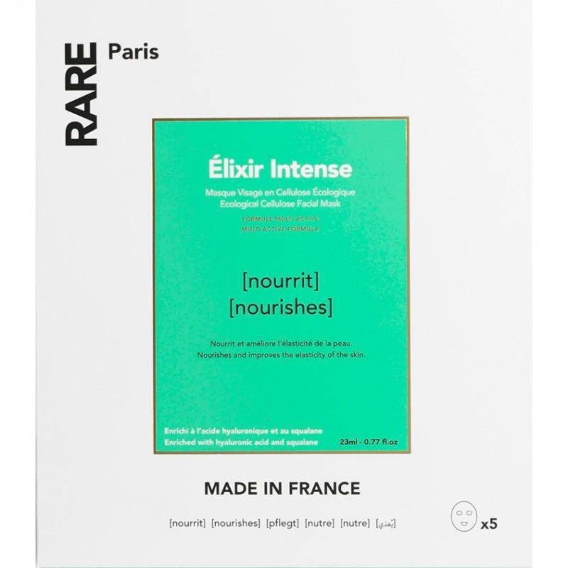 RARE PARIS Набор из 5 питательных тканевых масок Elixir Intense