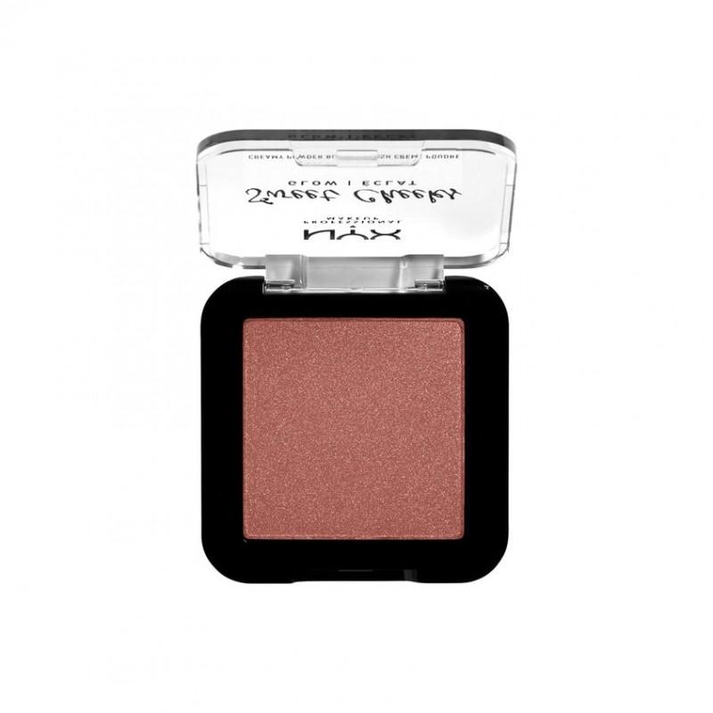 NYX Professional Makeup Сияющие прессованные румяна для лица SWEET CHEEKS CREAMY POWDER BLUSH GLOWY