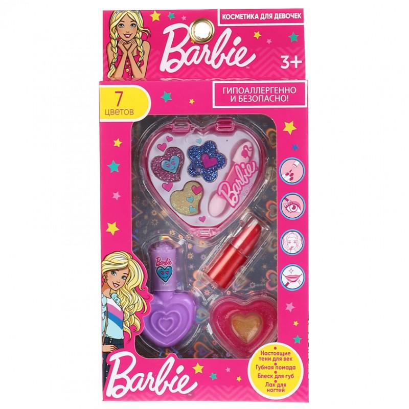 МИЛАЯ ЛЕДИ Набор: тени, помада, блеск для губ, лак для ногтей Barbie
