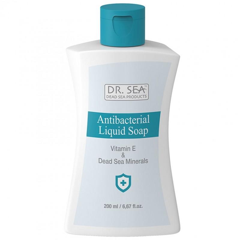 DR. SEA Антибактериальное дезинфицирующее жидкое мыло для рук с витамином Е и Минералами Мертвого моря