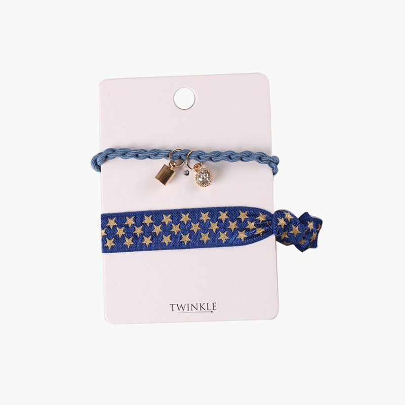 TWINKLE Резинки для волос 2 шт. Dark Blue