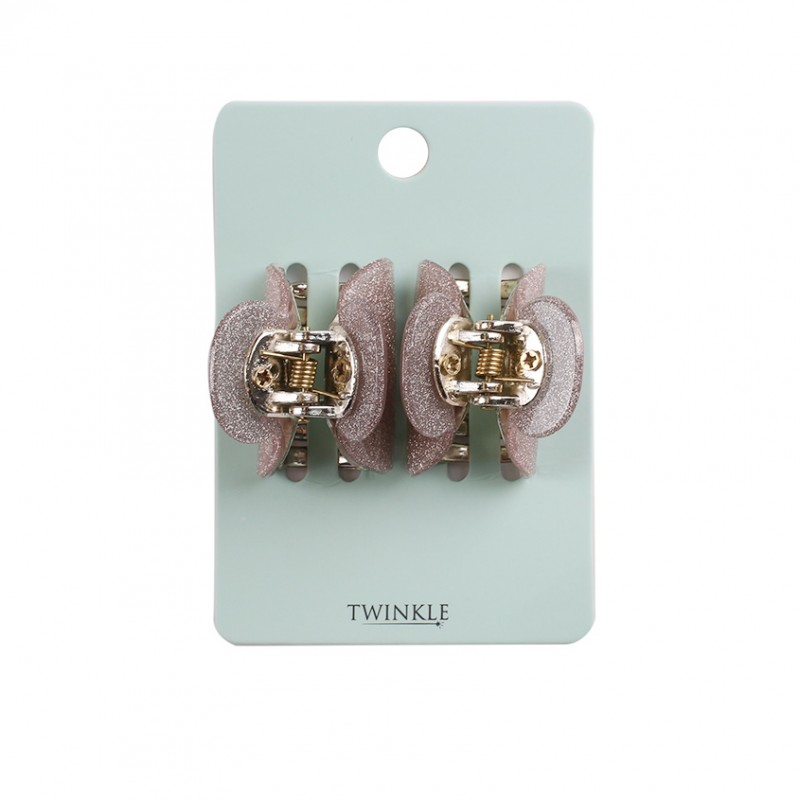 TWINKLE Заколки для волос 2 шт. Pink Glitter