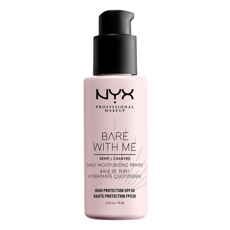 NYX Professional Makeup Праймер-уход с SPF 30 с маслом семян конопли Bare With Me SPF 30 Daily Protecting Primer